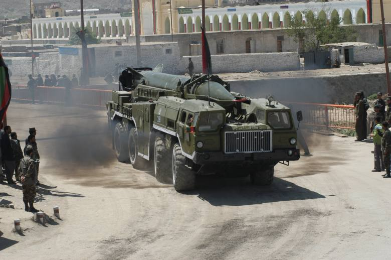 A SCUD-2 of the Afghan National Army, Photograph is part of the public domain