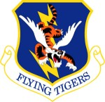 The official 23rd Wing emblem (approved 24 January 1957). Photograph is part of the public domain.