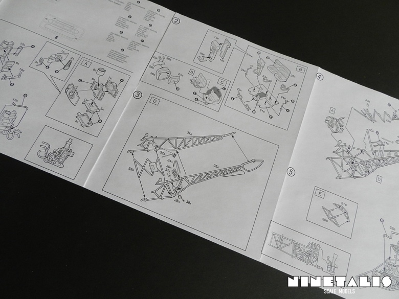 A view of the instruction sheet from the Italeri OH-13/AB-47 Coast Guard kit 859.