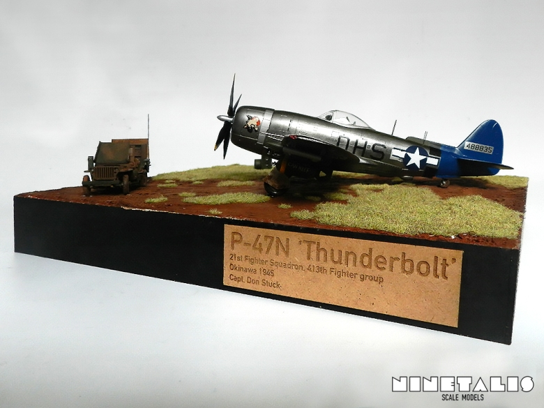 A front view onto the diorama