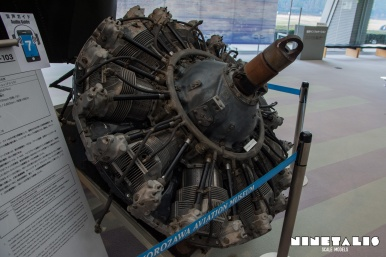 Left side view of the Wright R-1820-130 Cyclone Radial engine as used with the Piasecki H-21 helicopter.